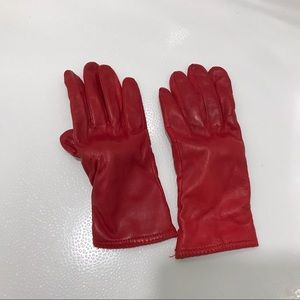 Red leather driving gloves, size large